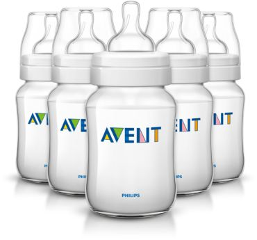 5 Classic 9oz Slow Flow Nipple Feeding bottle