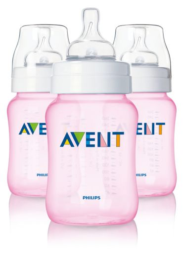 3 Classic 9oz Slow Flow Nipple Feeding bottle