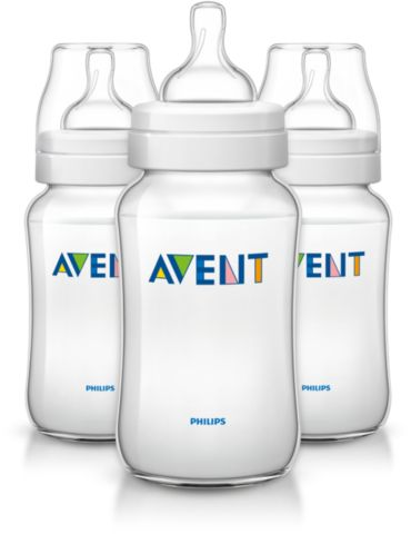 3 Classic 11oz Variable Flow Nipple Feeding bottle