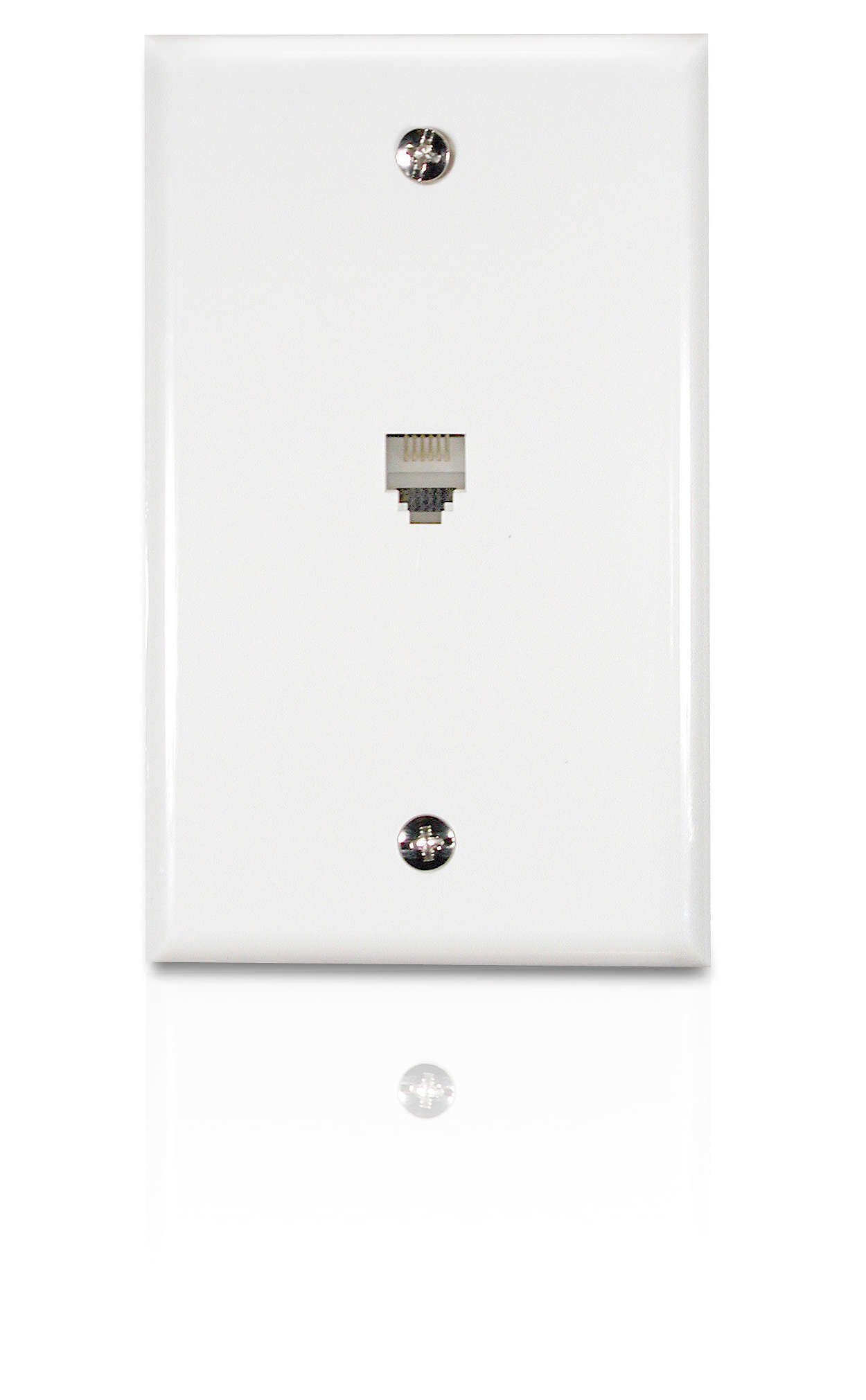 Flush mount wall jack