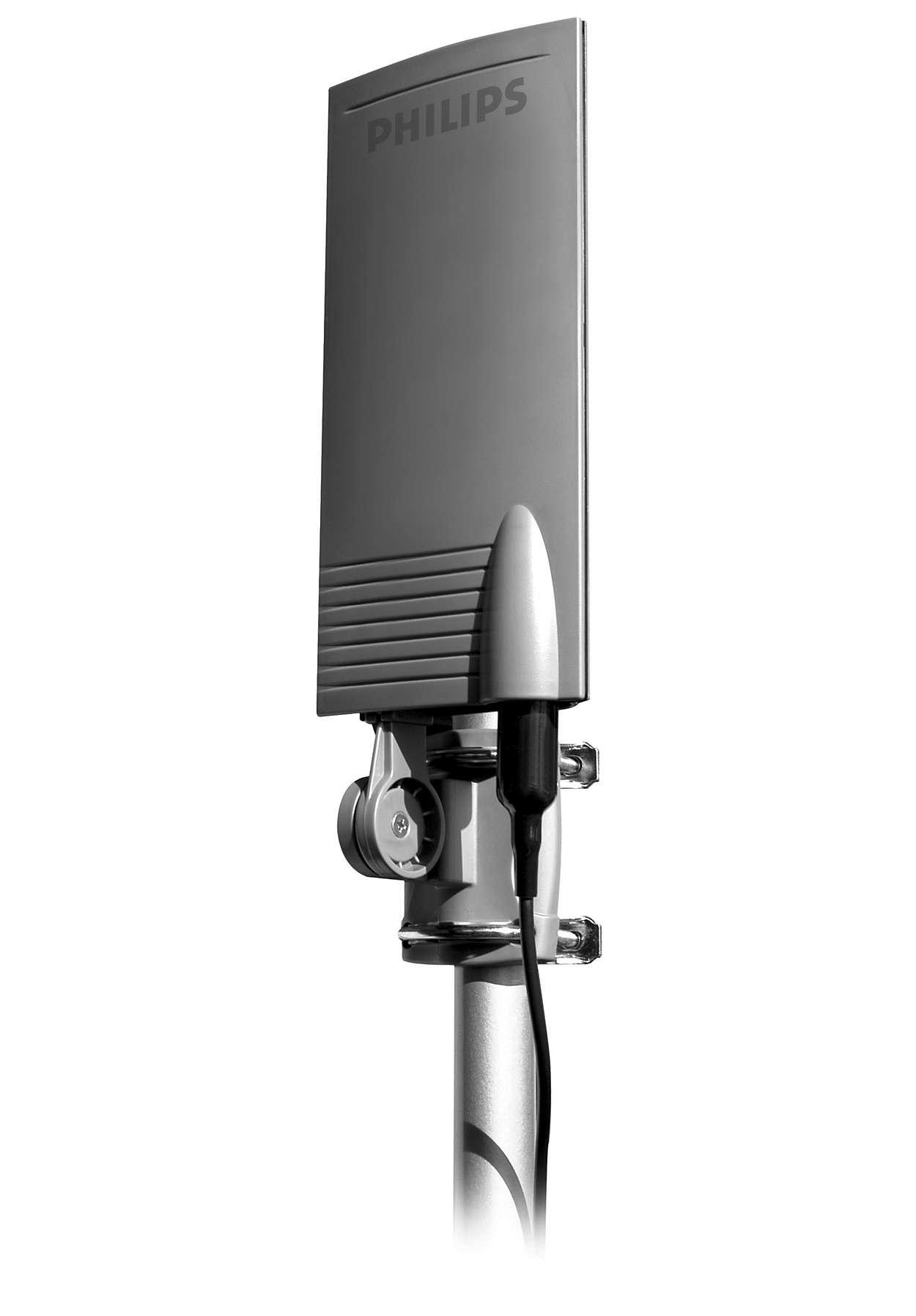 Antena de tv sdv2940 27 philips for Antenas de tv interiores