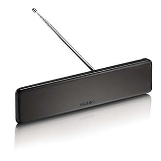 Philips - Digital TV antenna Indoor 18 dB amplified HDTV/UHF/VHF ...