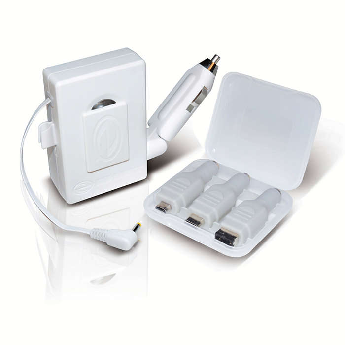Retractable AC/DC charger all in one.