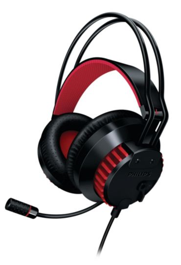 Retractable microphone Black PC Gaming Headset