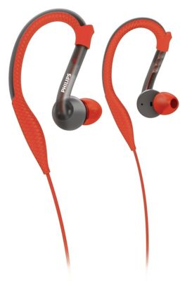 Philips ActionFit Sports earhook headphones SHQ3200 ActionFit Orange & Grey