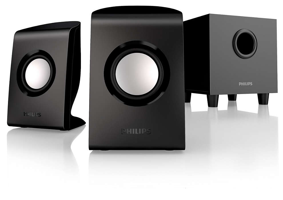 Powerful sound with subwoofer