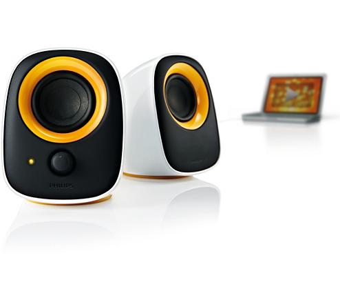 enceintes usb pour ordinateur portable spa2210 10 philips. Black Bedroom Furniture Sets. Home Design Ideas
