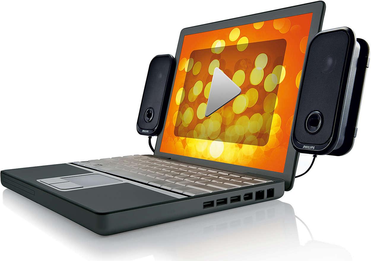enceintes usb pour ordinateur portable spa5200 00 philips. Black Bedroom Furniture Sets. Home Design Ideas