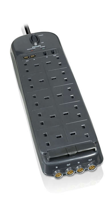 Home entertainment surge protector