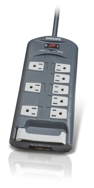 Philips  Home Office Surge Protector 8 outlets SPP4081B/17