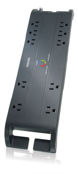 Philips  Home Office Surge Protector 10 outlets SPP4101B/17