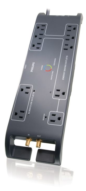 Philips  Home Office Surge Protector 10 outlets SPP4105E/17