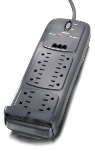 Philips  Home Office Surge Protector 12 outlets SPP4121A/17