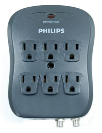Philips  Home Theater Surge Protector 6 outlets SPP5065C/17