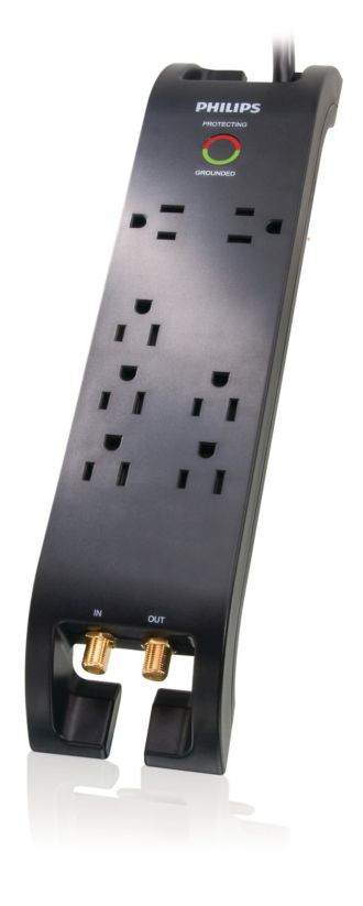Philips  Home Theater Surge Protector 7 outlets SPP5074E/17