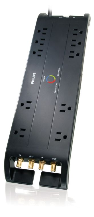 Philips  Home Theater Surge Protector 10 outlets SPP5105C/17