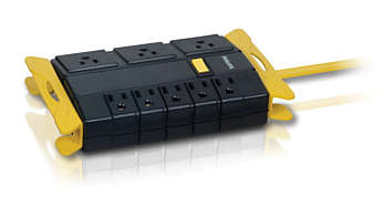 8 outlets 6ft yellow-black Power strip