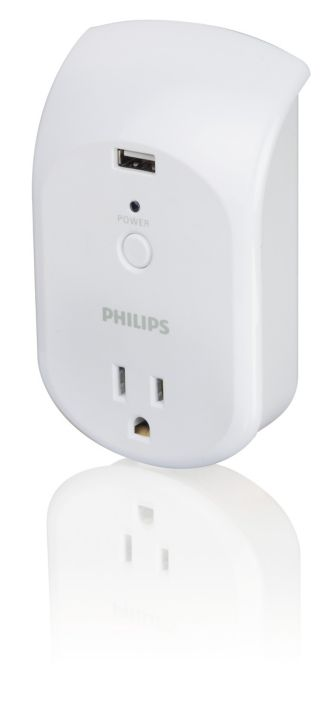 Philips  Power multiplier 1 outlet SPS6010B/17