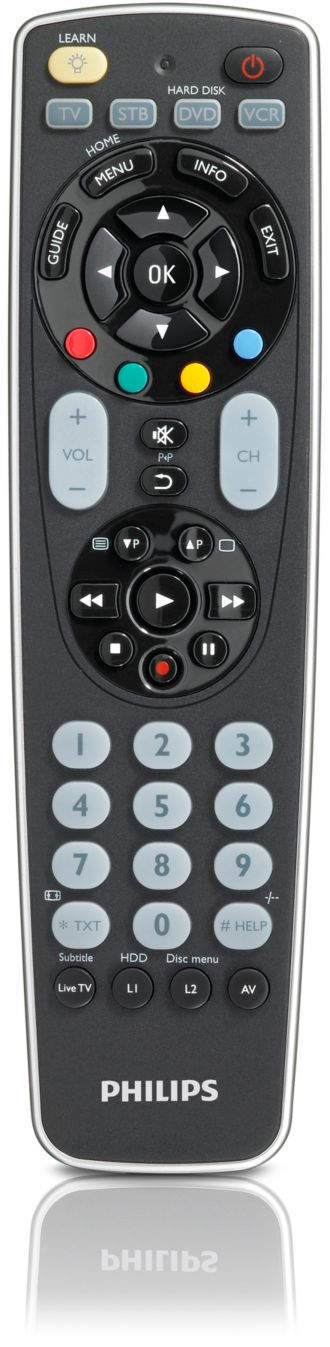 Philips  Universal remote control 4 in 1 SRP5004/97