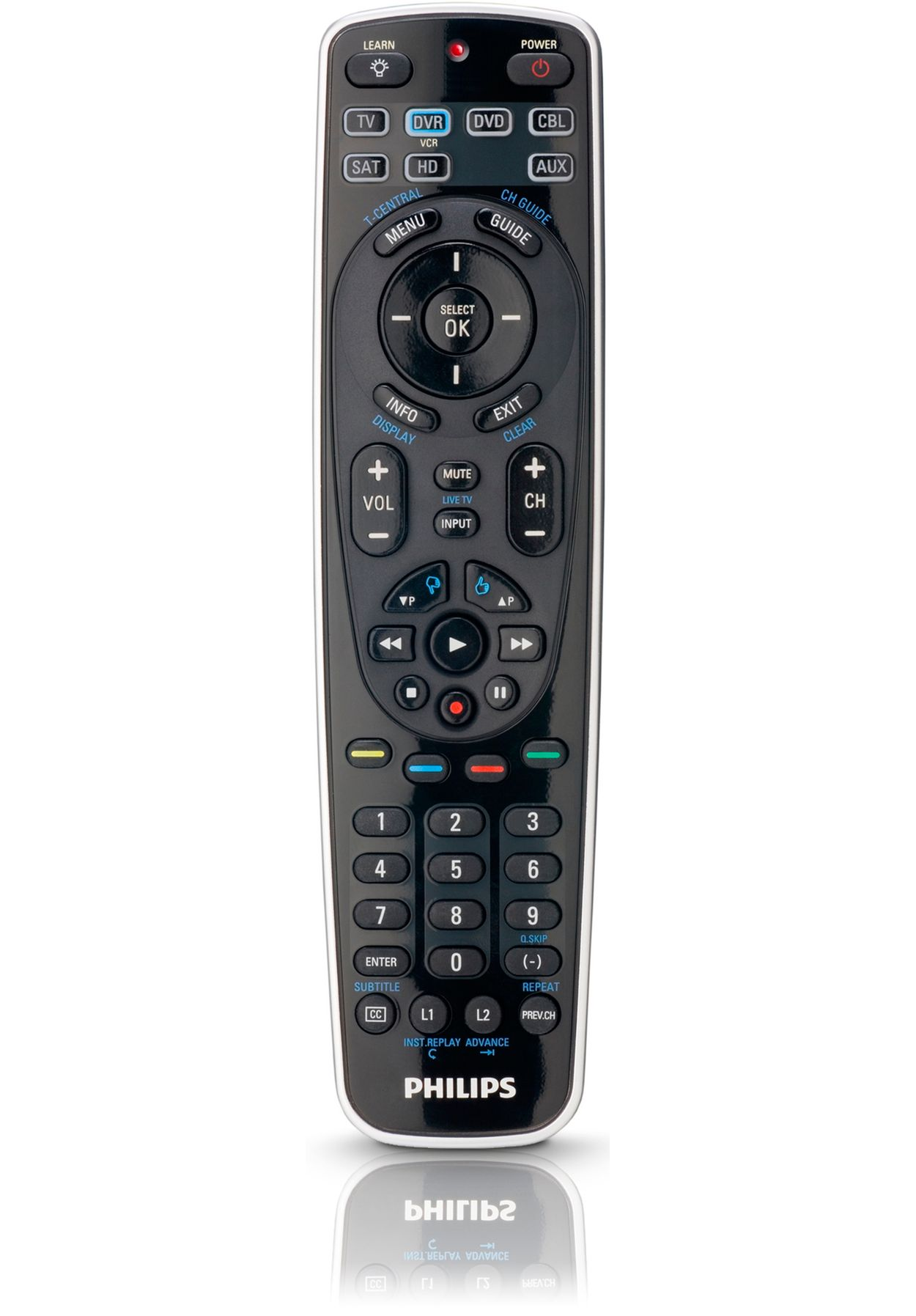 how to program a philips universal remote to a tv