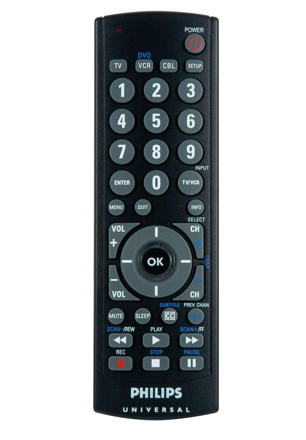 Universal Remote Control Sru2103 27 Philips