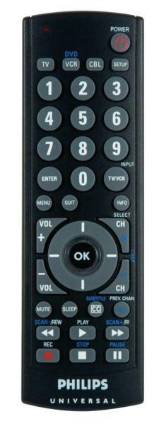 Philips Universal remote control SRU2103 Big button