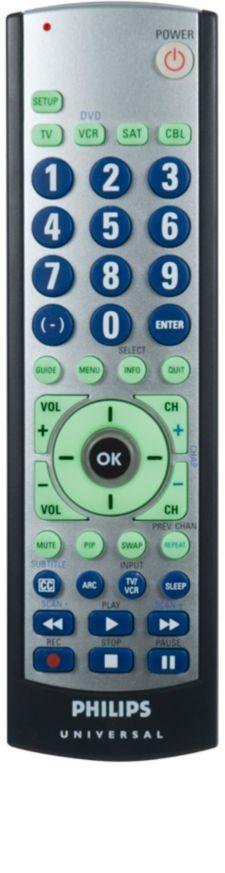 Philips Universal remote control SRU3004WM Big button