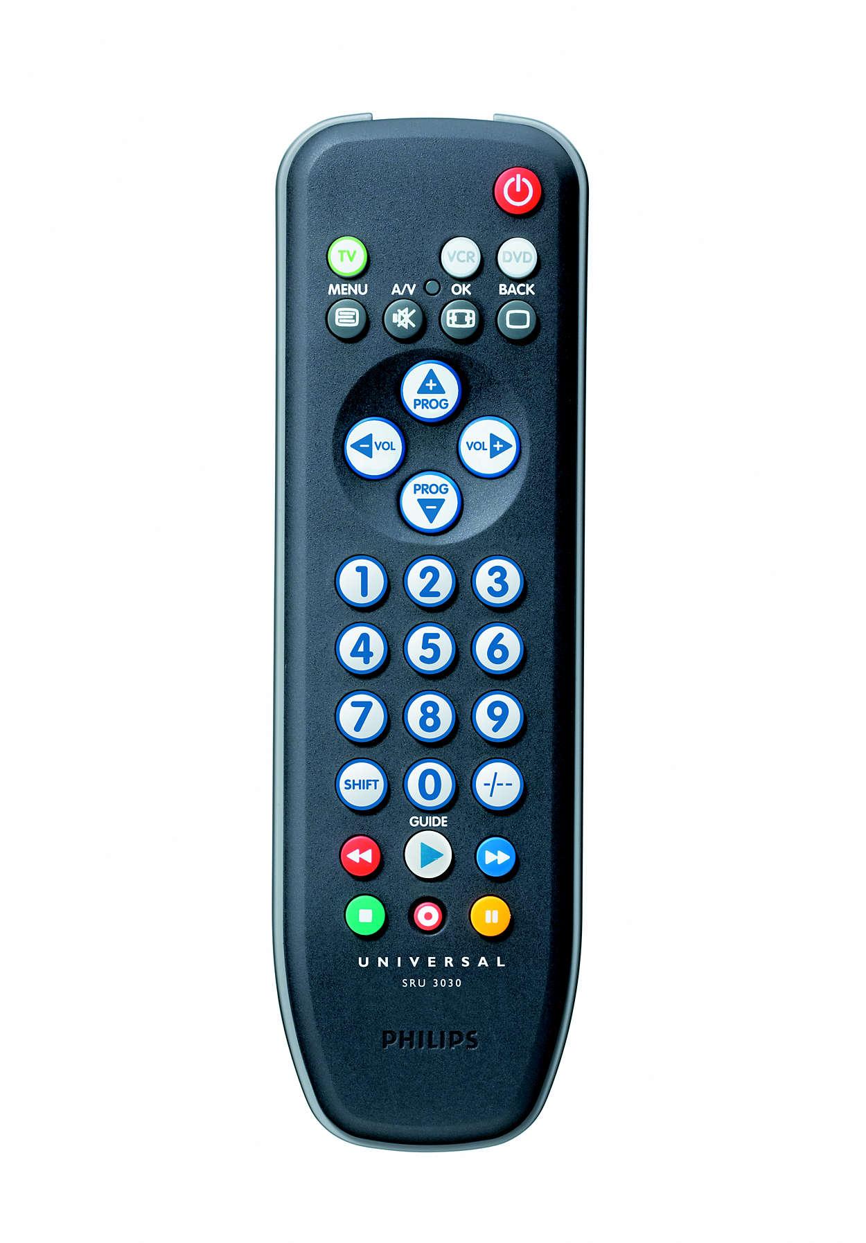 Telecomando universale sru3030 10 philips for Philips telecomando