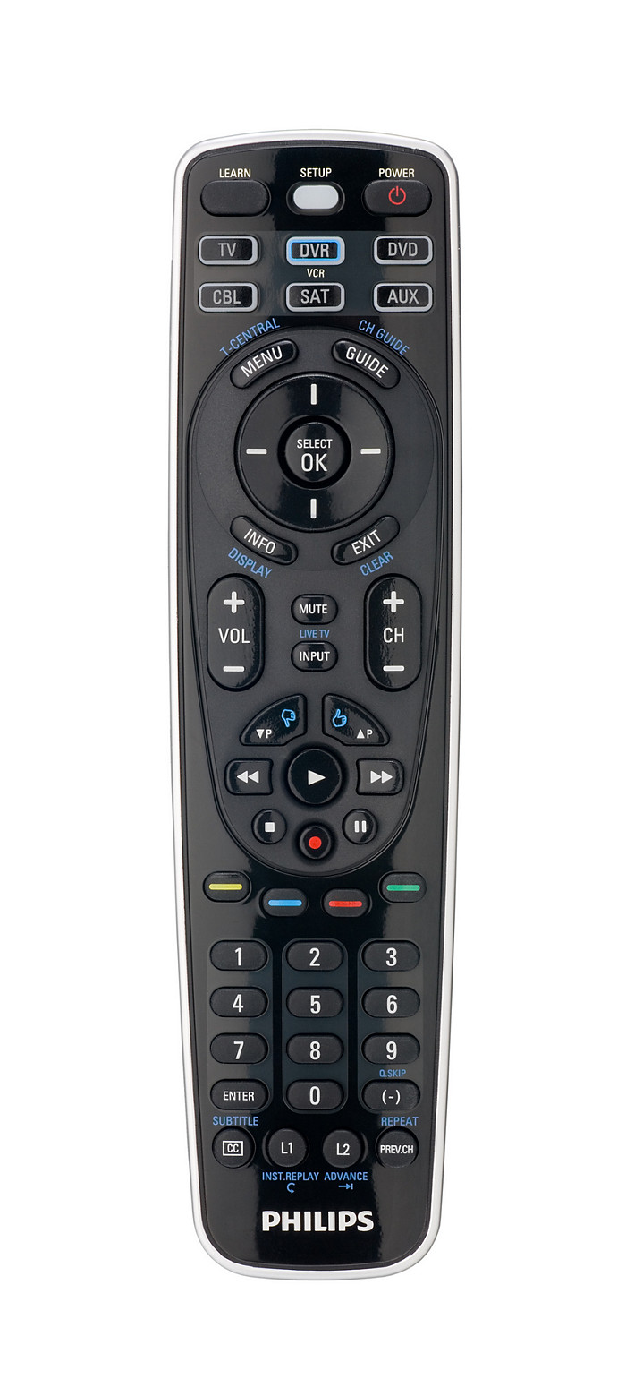 buy the philips perfect replacement universal remote control sru5106 27. Black Bedroom Furniture Sets. Home Design Ideas