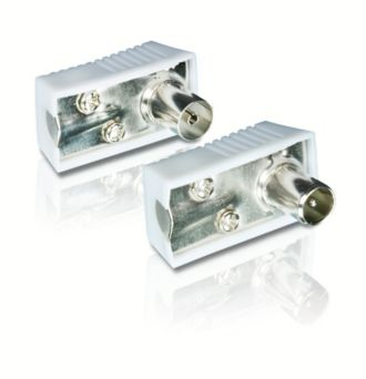 Philips  Extremos de conector PAL 9,52 mm (macho) y 9,52 mm (hembra) SWV2561W/10