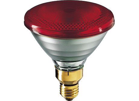 PAR38 IR 100W E27 240V Red 1CT/12