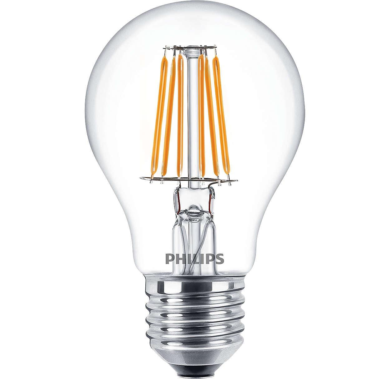 cla ledbulb nd 7 5 60w e27 ww a60 cl classic led lamps. Black Bedroom Furniture Sets. Home Design Ideas