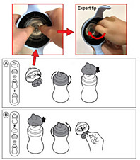 assemble spout cup hard