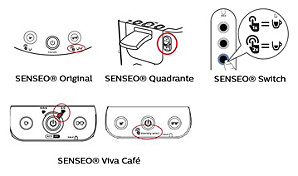 SENSEO volume setting select