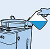Füllen des Wassertanks der Philips Kaffeemaschine mit Mahl- und Brühsystem