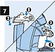 Einsetzen der Milchbehälter-Einheit in das Gerät