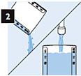 Het melkreservoir spoelen