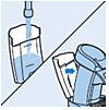 Waterreservoir is in het SENSEO-apparaat geplaatst