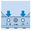 Start spoelcyclus door op 1-kops en 2-kops knop te drukken