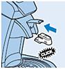 Plaats Calc-Clean-hulpstuk in de SENSEO Cappuccino