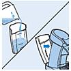 Plaats het waterreservoir terug op de SENSEO-koffiemachine
