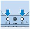 Start het ontkalken door tegelijkertijd te drukken op de 1-kops en 2-kops knop