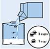 Het melkreservoir van de SENSEO Cappuccino Select vullen