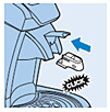 Het Calc-Clean-hulpstuk in de SENSEO Cappuccino Select plaatsen