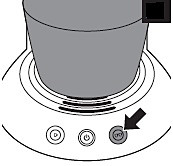 Press two cup button to start descaling
