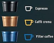 Ilustracja z kapsułkami kawy Tchibo