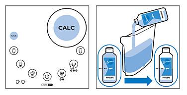 Flüssigentkalker in die SENSEO Latte Duo hinzufügen