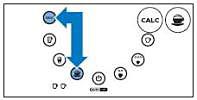 Latte Duo - druk op CALC-knop, recept