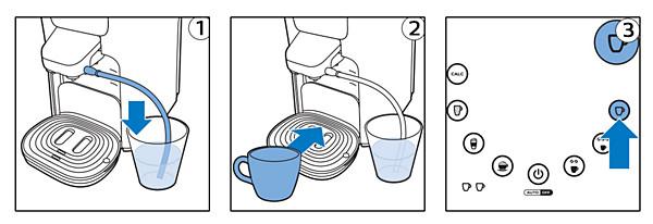 SENSEO Latte Duo Milchausgießer abspülen