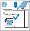 Druk opnieuw op de koffieknop voor de juiste hoeveelheid koffie